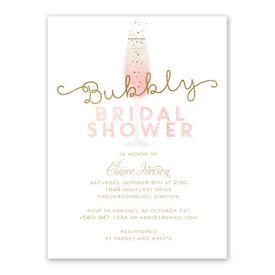 Bubbly Bride Bridal Shower Invitation