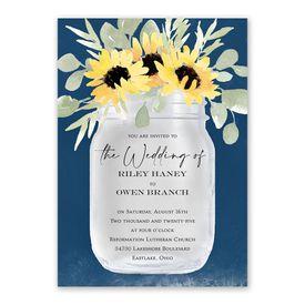 Jar of Flowers Invitation with Free Response Postcard