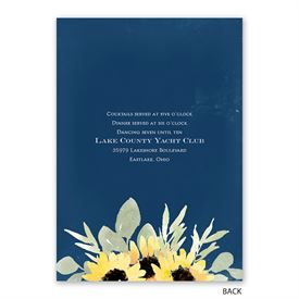Jar of Flowers - Invitation with Free Response Postcard
