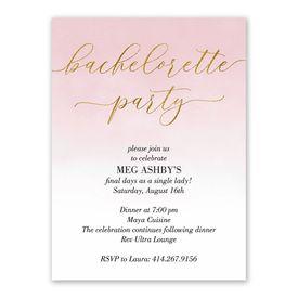 Ombre Shine Bachelorette Party Invitation
