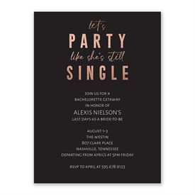 Time to Party Bachelorette Invitation