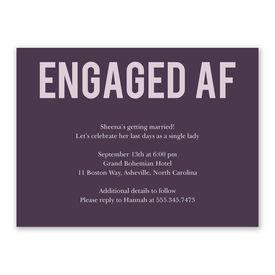 Engaged AF Bachelorette Party Invitation