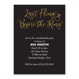 Last Fling Bachelorette Party Invitation