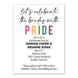 Brides with Pride Bachelorette Party Invitation