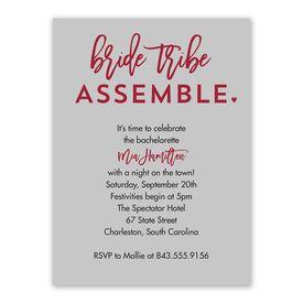 Bride Tribe Bachelorette Party Invitation