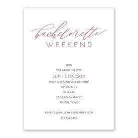 Bachelorette Weekend Bachelorette Party Invitation