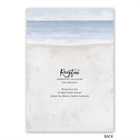 By the Seashore - Invitation with Free Response Postcard