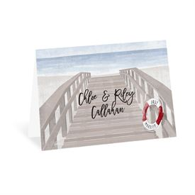 Wedding Thank You Cards: By the Seashore Thank You Card