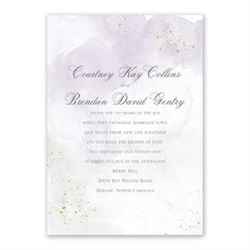 Sweetly Serene Violet Invitation with Free Response Postcard