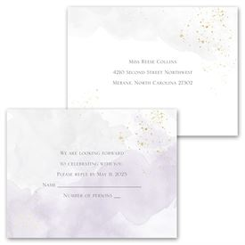 Sweetly Serene - Violet -  Invitation with Free Response Postcard