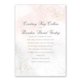 Sweetly Serene Powder Invitation with Free Response Postcard