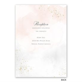 Sweetly Serene - Powder -  Invitation with Free Response Postcard