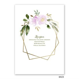Modern Floral - Wisteria - Invitation with Free Response Postcard