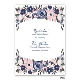 Abstract Bouquet - Invitation with Free Response Postcard