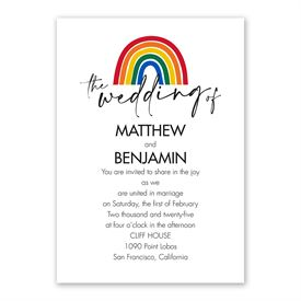 Color of Love Invitation with Free Response Postcard