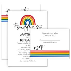 Wedding Invitations: Color of Love Invitation with Free Response Postcard
