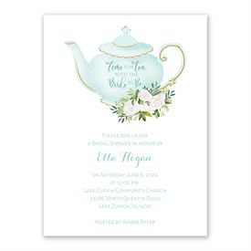 Cheap Bridal Shower Invitations: Time for Tea Bridal Shower Invitation