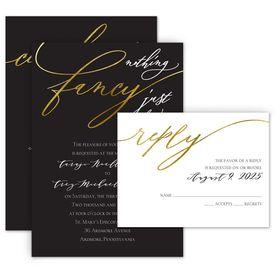 Wedding Invitations: Just Love Invitation with Free Response Postcard