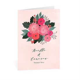 Wedding Thank You Cards: Bright Bouquet Thank You Card