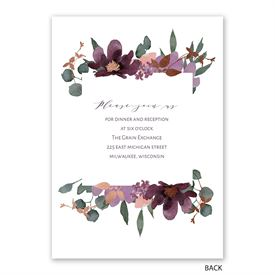 Posh Petals - Mulberry - Invitation with Free Response Postcard