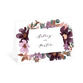 Wedding Thank You Cards: Posh Petals Mulberry Thank You Card