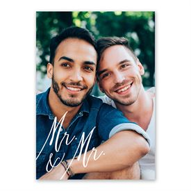 Always Mr and Mr Invitation with Free Response Postcard