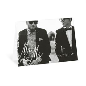 Wedding Thank You Cards: Always Mr and Mr Thank You Card