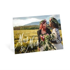 Wedding Thank You Cards: Always Mrs and Mrs Thank You Card