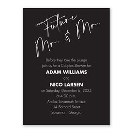 Classic Couple Mr and Mr Couples Shower Invitation
