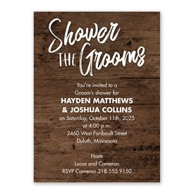 Rustic Grooms Couples Shower invitation