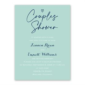 Sweetheart Couples Shower Invitation
