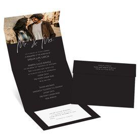 Wedding Invitations: Happy Couple Mr and Mrs Seal and Send Invitation