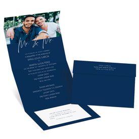 Wedding Invitations: Happy Couple Mr and Mr Seal and Send Invitation