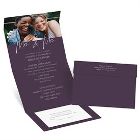 Wedding Invitations: Happy Couple Mrs and Mrs Seal and Send Invitation
