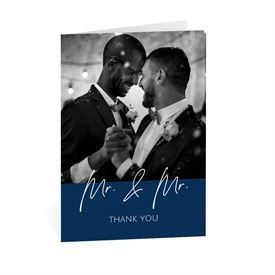 Wedding Thank You Cards: Happy Couple Mr and Mr Thank You Card