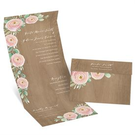Rustic Wedding Invitations: Country Blossoms Seal and Send Invitation