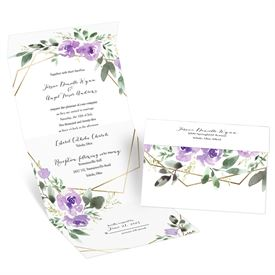 Blooming Geo Lavender Seal and Send Invitation