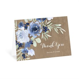 Wedding Thank You Cards: Rustic Beauty Periwinkle Thank You Card