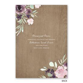 Rustic Beauty - Plum - Invitation with Free Response Postcard