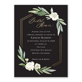 Bridal Shower Invitations: Budding Beauty Bridal Shower Invitation
