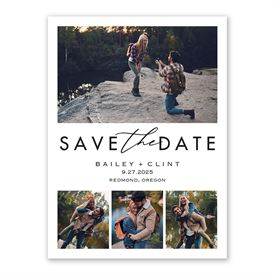 Save the Dates: Perfect Moment Save the Date