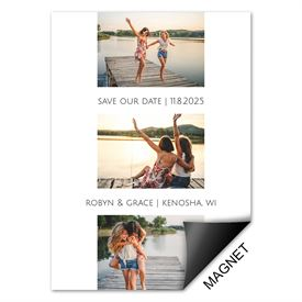 Photo Blocks Save the Date Magnet