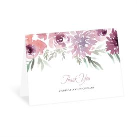 Wedding Thank You Cards: Blooming Plum Thank You Card