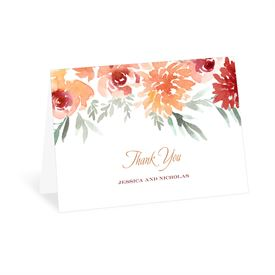 Wedding Thank You Cards: Blooming Peach Thank You Card
