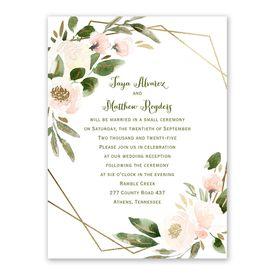 Modern Floral Powder Reception Invitation