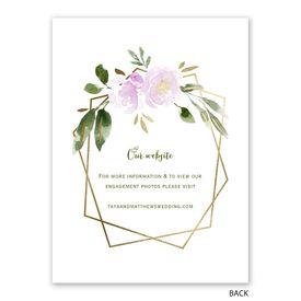 Modern Floral - Wisteria - Reception Invitation