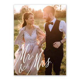 Always Mr and Mrs Reception Invitation