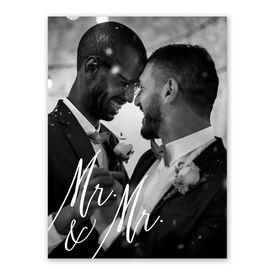 Always Mr and Mr Reception Invitation