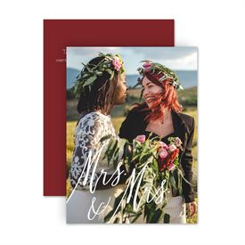 Reception Only Wedding Invitations: Always Mrs and Mrs Reception Invitation