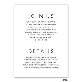 Modern Monogram - Reception Invitation